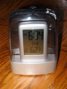 water-powered digital alarm clock