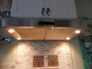 Broan vent hood with LED lights