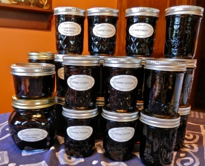 Turning 10 lbs of chokecherries into lots of jars of jelly